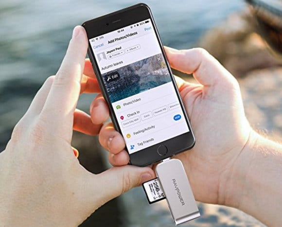 RAVPower lighting to SD Card Reader Flash drive for iPad, iPhone