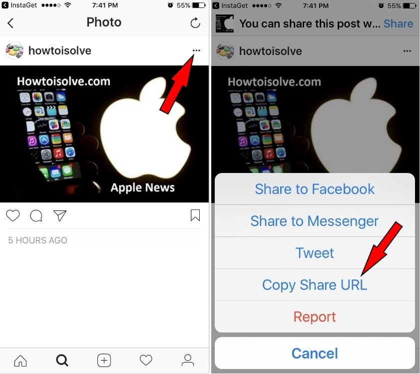 Save Instagram Photos and videos to iPhone Camera Roll