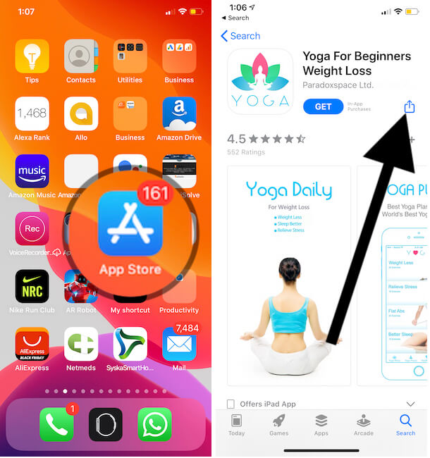 Save app in Wish list as Book mark on iPhone app Store