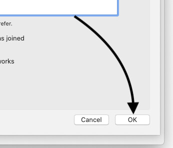 Save the changes after remove network on Mac