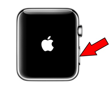 Apple Watch Power button and hold down Apple Logo