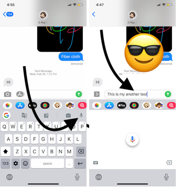 Use Microphone on Google Gboard app for Voice to text