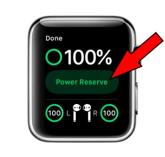 Enable Apple Watch Power Reserve Mode
