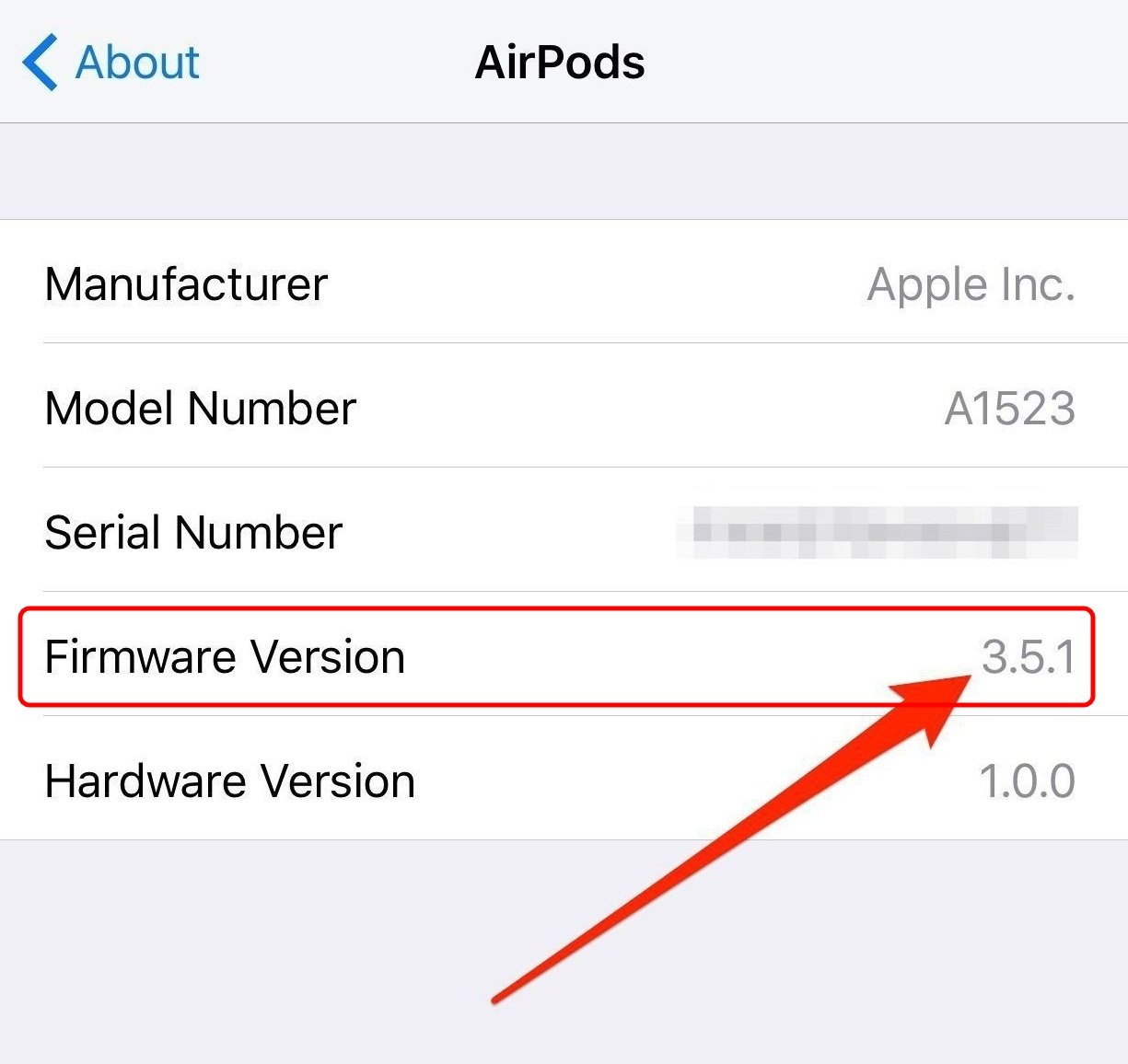 AirPods Install latest Firmware 3.5.1
