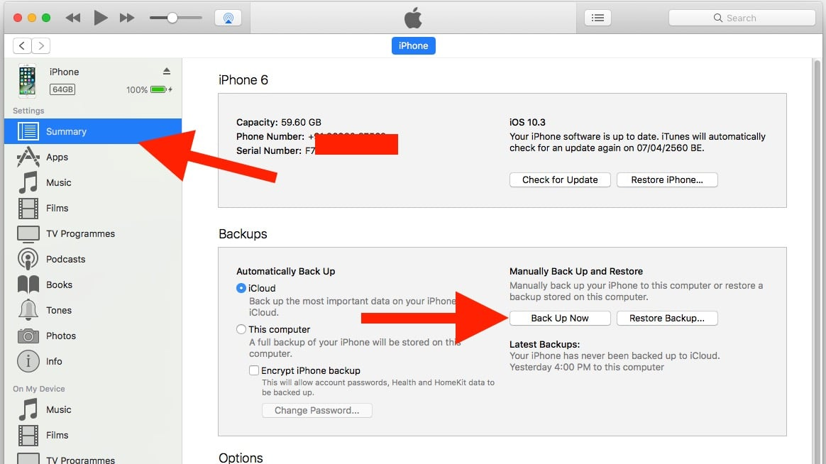 4 Use iTunes for Backup iPhone or iPad