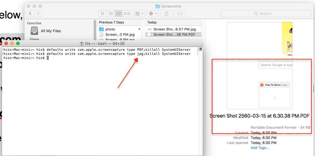 change PDF to JPG screenshot extension