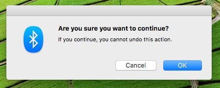 confirm Reset Bluetooth module on Mac