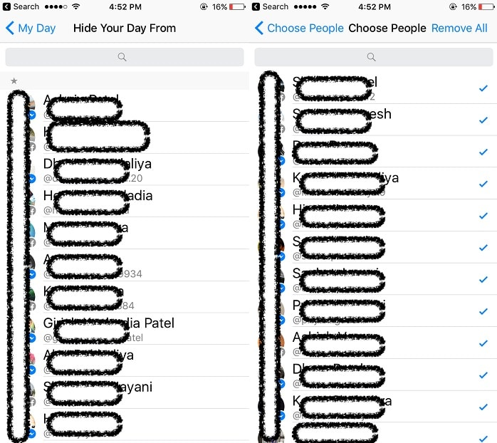 6 Set Different privacy for view your Facebook day on iphone and iPad 6