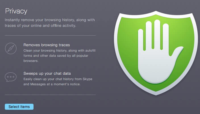 Maintain privacy by clearing all data from Mac