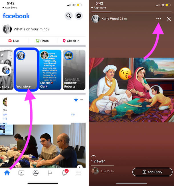 Add a New Story from Facebook iPhone app