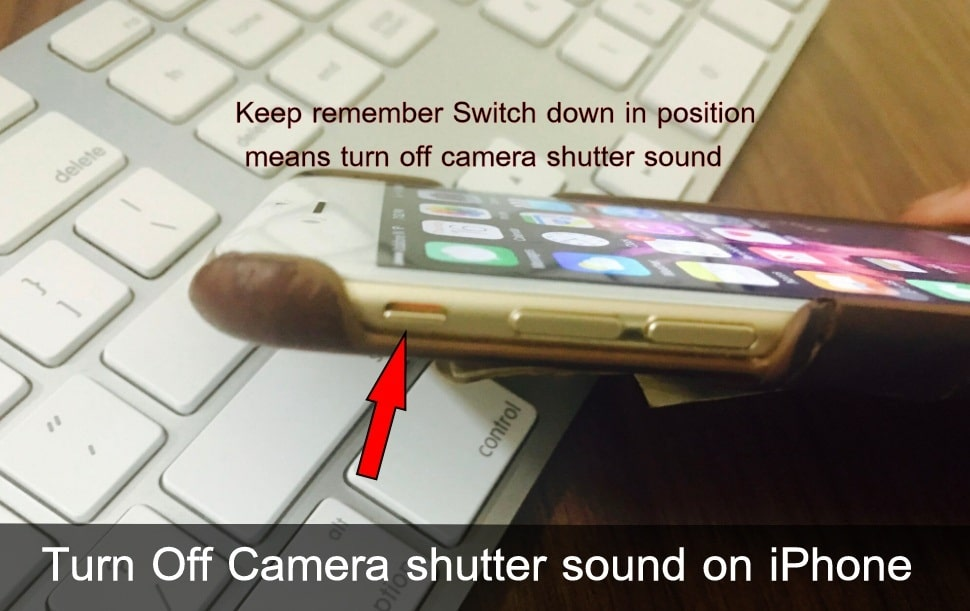 Switch turn Off Camera shutter sound on iPhone 7 Plus iOS 10.2 later