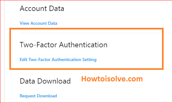 now click on two factor authentication Instagram web PC mac