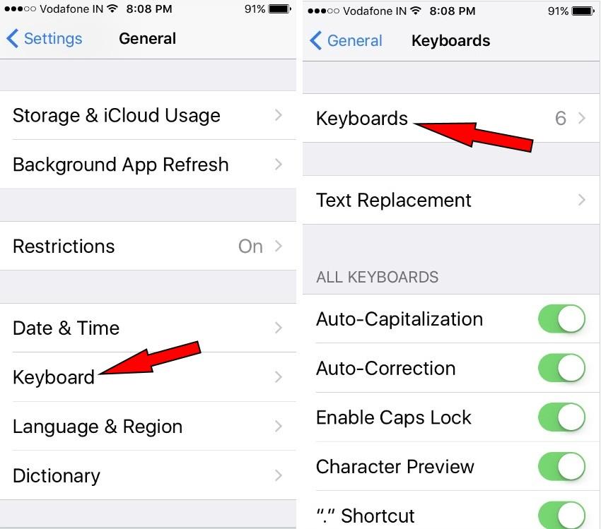 Add Third-Party Keyboard in iOS 10