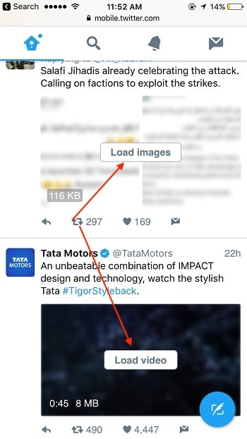 3 Enable Photo and Video blur in Twitter lite
