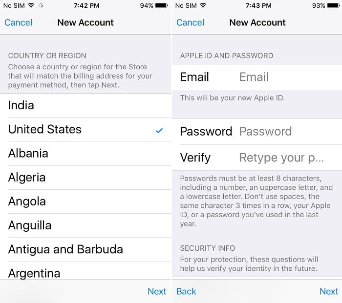 3 complate signup process on iPhone