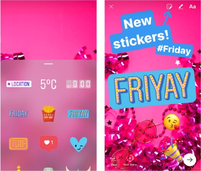 5 New insta Stickers use on iPhone or iPad