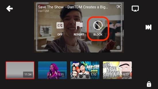 6 Block YouTube video in app