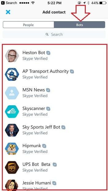 6 Skype Bot on iPhone and iPad