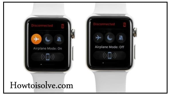 Apple Watch series 2 Airplane mode turn on turn off