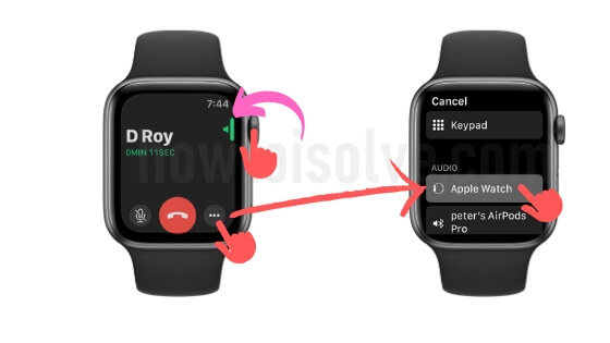 Low Call Volume on Apple Watch for incoming or outgoing call