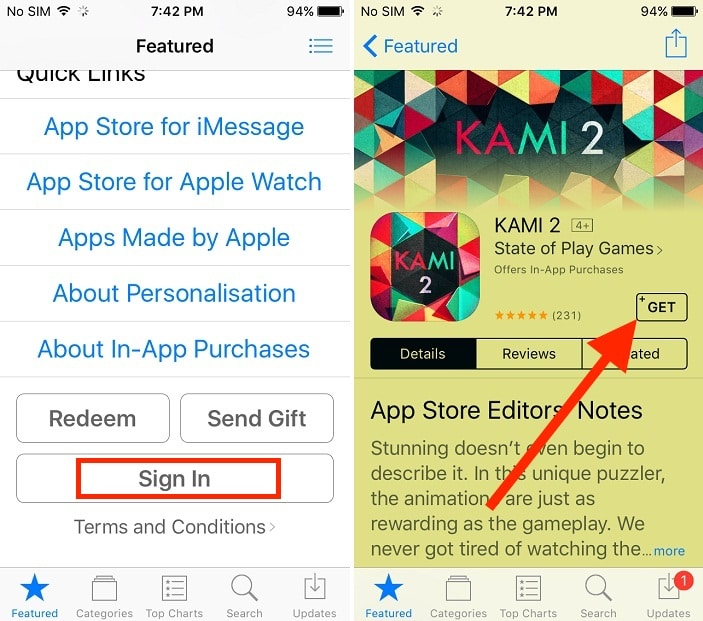 Sign up new apple ID for mail on iPhone iPad