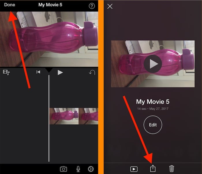2 Rotate and Save video on photos app in iPhone and iPad