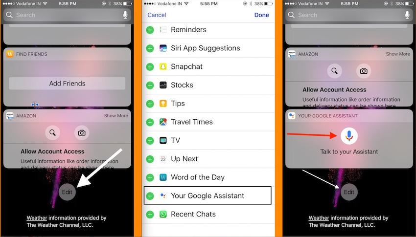 4 Add Google Assistant in Lock Screen Widget