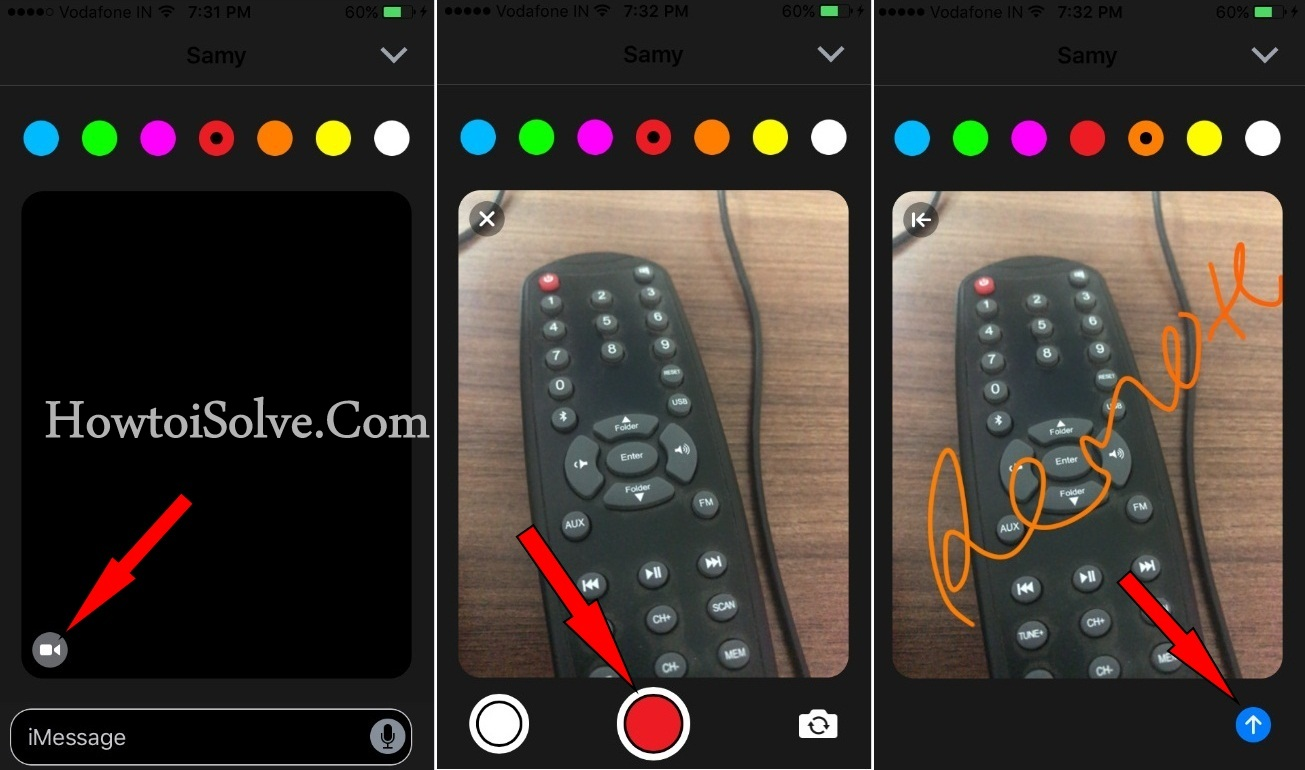 Send Digital Touch Message with picture and videos on iPhone 7