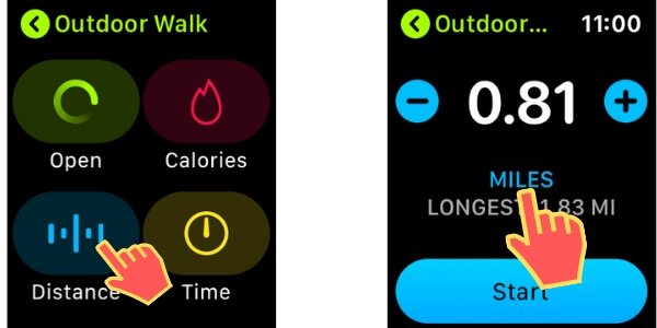 Switch Distance between KM or Mile On Apple Watch