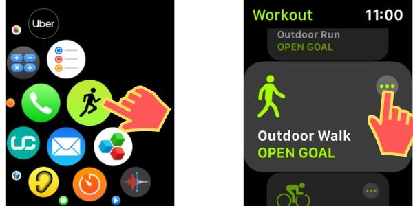 Workout App on Apple Watch