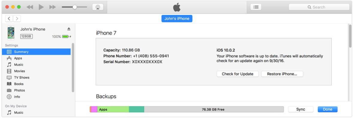 1 Update iPhone to iOS 11 using iTunes