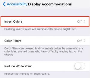 2 Invert colors for dark mode in iOS 11
