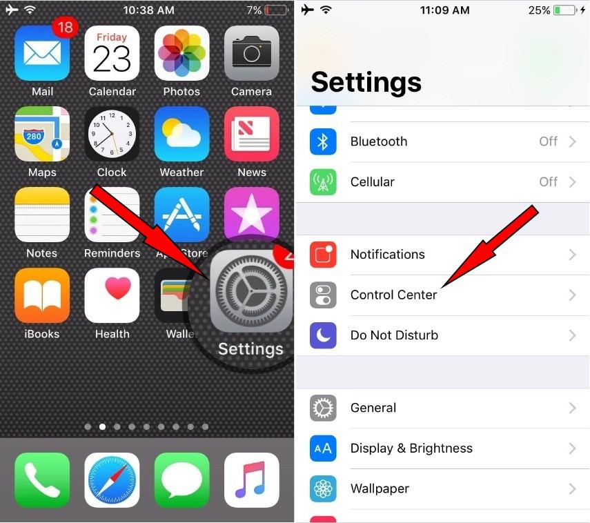 thread to iPad iPhone screen recording in iOS 11
