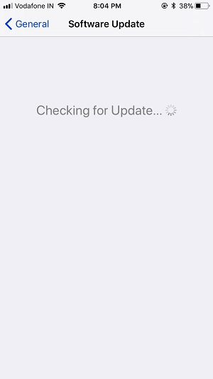 1 Check for Update in iOS 11 on iPhone and iPad
