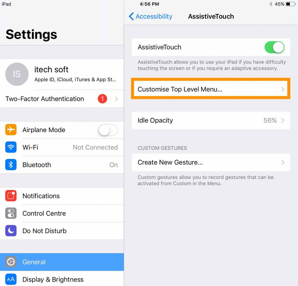 1 Customize Assistive Touch on iPad
