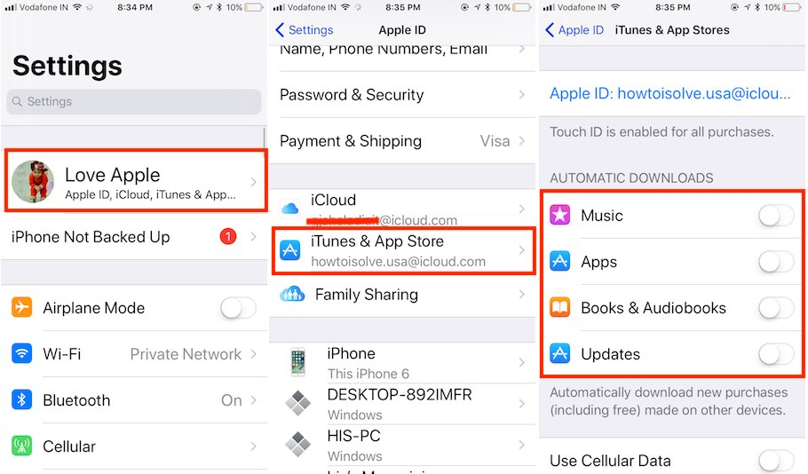 10 Stop auto update in iOS 11