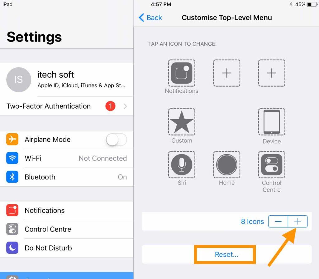 2 Add New Contol on Control Center on iPad