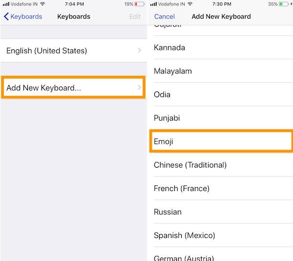 3 Add New Keyboard on iPhone