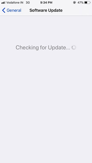 4 Software Update on iOS 11 in iPhone and iPad