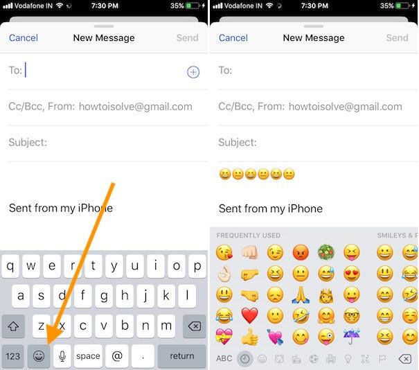 5 Emji keyboard missing on iPhone