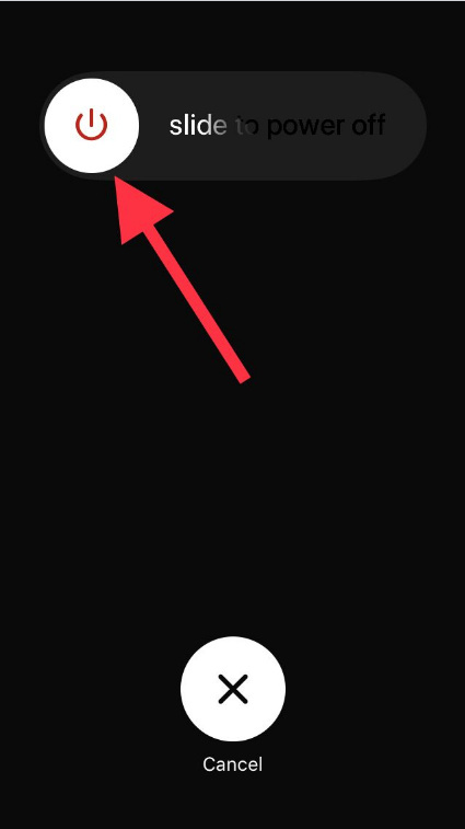 Slide to Power Off to the right side on iPhone iOS