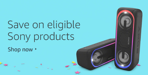 Sony Prime Day Deals on Sound bars, Wireless Speakers