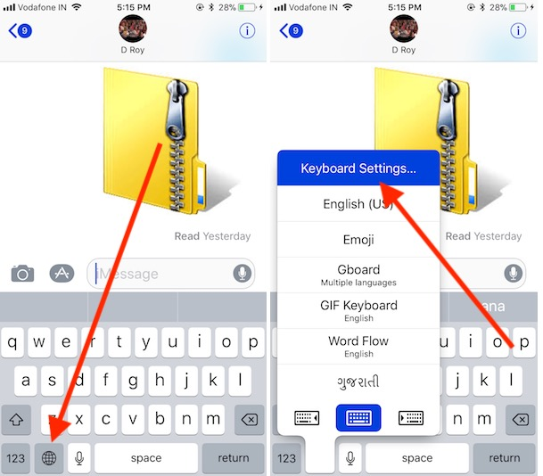 1 Disable or Turn off Text prediction Keyboard Settings