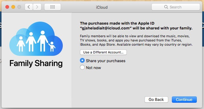 11 Enable Share your purchase or not in Family Sharing