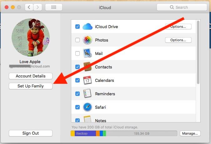 11 Setup iCloud Storage Family Sharing on Mac