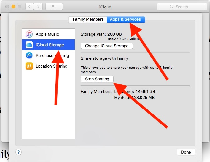 15 Stop Sharing or Disable Sharing in Family Sharing on Mac