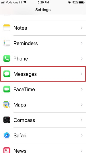 2 Messages Settings on iPhone