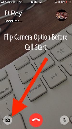 3 Flip Camera before call start