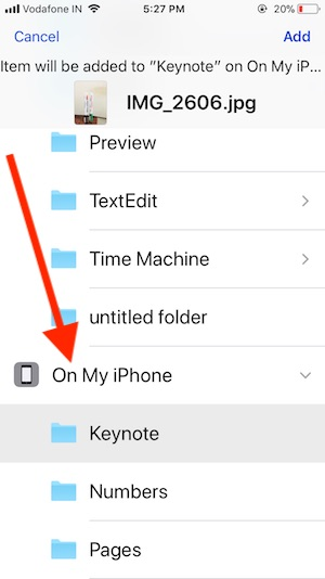 4 Select Location in Files app on iPhone and iPad