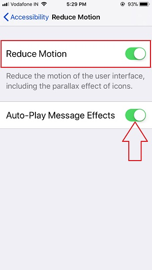 5 Enable Reduce Motion in iPhone Settings